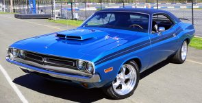 1971 Dodge Challenger Restomod with Gorgeous B5 Blue Body Color