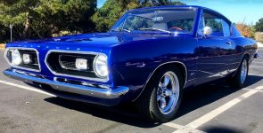 Beautiful Blue 1967 Plymouth Barracuda with 340 under the Hood